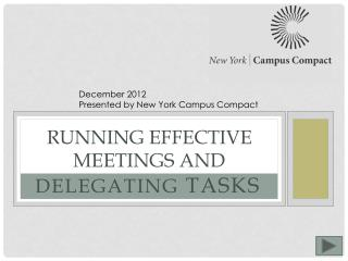 Running Effective Meetings and