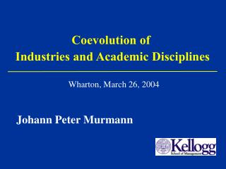 Coevolution of Industries and Academic Disciplines
