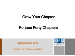Grow Your Chapter Fortune Forty Chapters