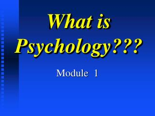 What is Psychology???