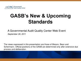 GASB's New & Upcoming Standards