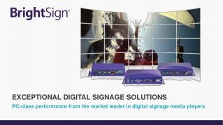 PC-class performance from  the market leader in digital signage media players