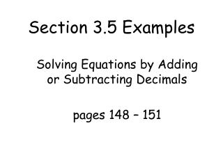 Section 3.5 Examples