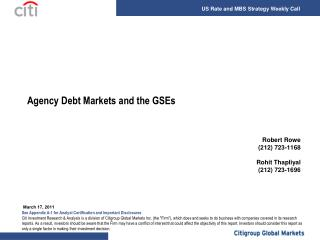 Agency Debt Markets and the GSEs