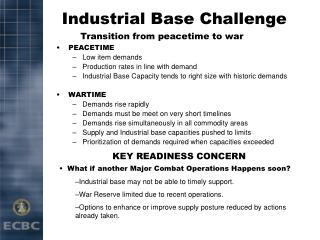 Industrial Base Challenge