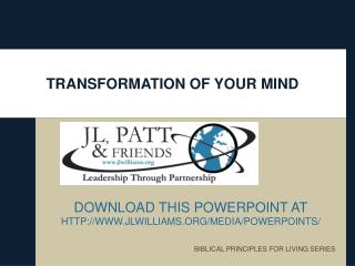 TRANSFORMATION OF YOUR MIND