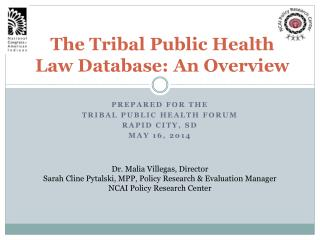 The Tribal Public Health Law Database: An Overview