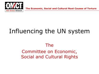 Influencing the UN system