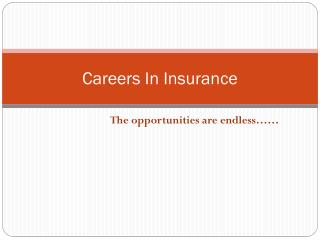 Careers In Insurance