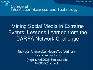 Mining Social Media in Extreme Events: Lessons Learned from the DARPA Network Challenge
