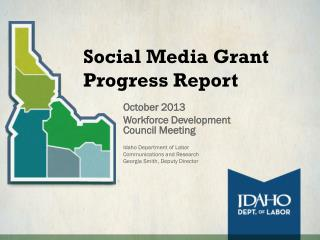 Social Media Grant Progress Report