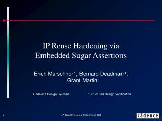 IP Reuse Hardening via Embedded Sugar Assertions