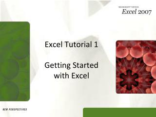 Excel Tutorial 1 Getting Started  with Excel