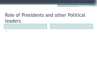 Role of Presidents and other Political leaders