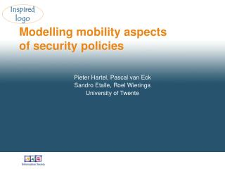 Modelling mobility aspects of security policies