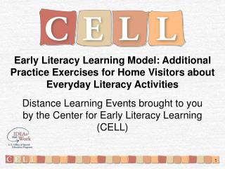 Early Literacy Learning Model: Additional Practice Exercises for Home Visitors about Everyday Literacy Activities