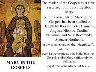 MARY IN THE GOSPELS