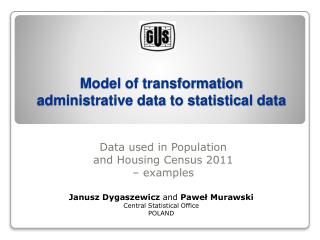 Model of transformation administrative data to statistical data