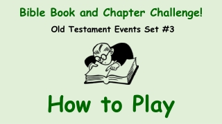 Bible Book and Chapter Challenge!