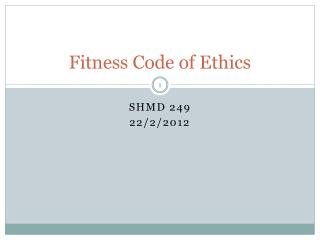 Fitness Code of Ethics