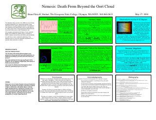 Nemesis: Death From Beyond the Oort Cloud