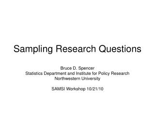 Sampling Research Questions