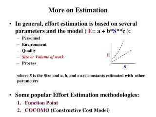 More on Estimation