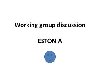 Working group discussion ESTONIA