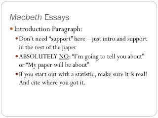 Macbeth Essays