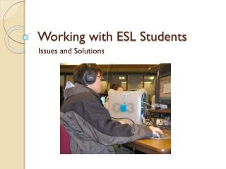 Working with ESL Students