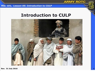 Introduction to CULP