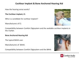 Cochlear Implant  & Bone  Anchored  Hearing  Aid