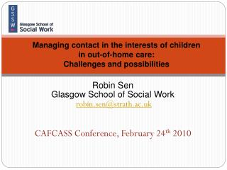 Managing contact in the interests of children  in out-of-home care:  Challenges and possibilities