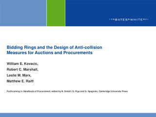Bidding Rings and the Design of Anti-collision  Measures for Auctions and Procurements