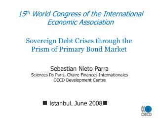 15 th  World Congress of the  International Economic Association