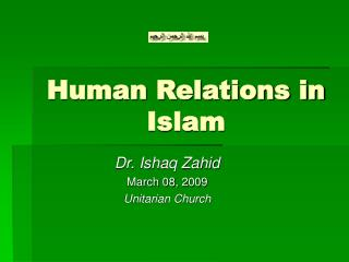 Human Relations in Islam