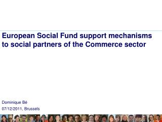 European Social Fund support mechanisms to social partners of the Commerce sector