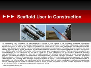 Scaffold User in Construction