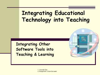 Integrating Other Software Tools into Teaching  Learning