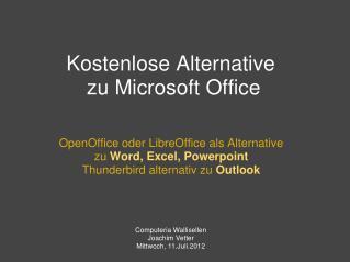 Kostenlose Alternative zu Microsoft Office