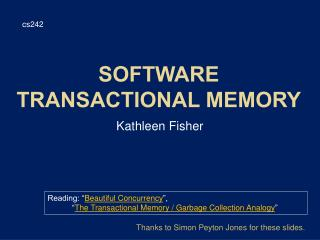 Software Transactional Memory