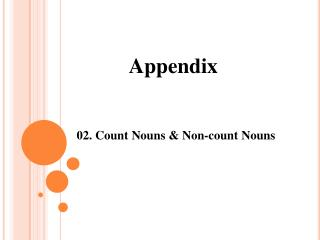 02. Count Nouns & Non-count Nouns