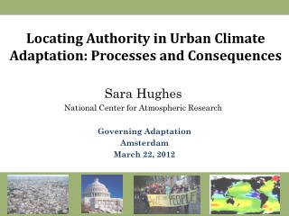 Locating Authority in Urban Climate Adaptation: Processes and Consequences
