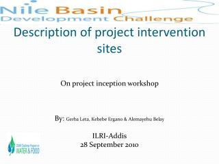 Description of project intervention sites