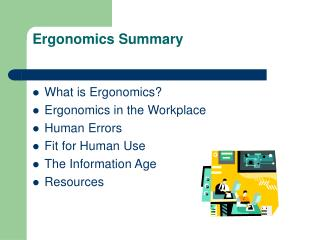 Ergonomics Summary