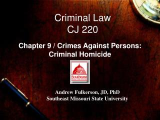Criminal Law  CJ 220