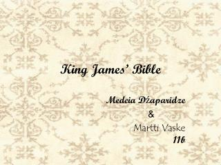 King James '  Bible