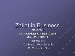 Zakat in Business