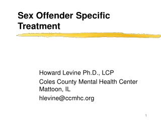 Sex Offender Specific Treatment