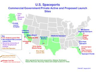 U.S. Spaceports Commercial/Government/Private Active and Proposed Launch Sites